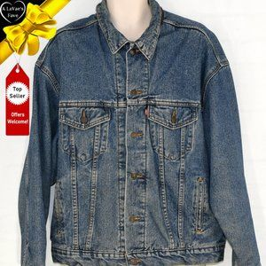 Levis Vintage Trucker Jacket with Red Black Lining